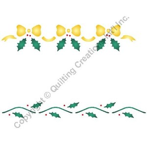 "1"" & .5"" Holly & Bow Border"