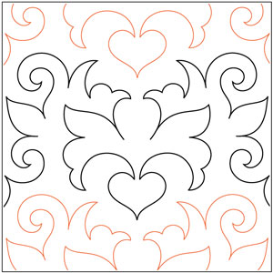 Heraldic Hearts Pantograph