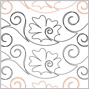 Iznik Flower Tile #1 Pantograph