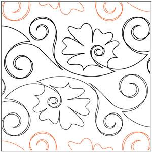 Iznik Flower Tile #2 Pantograph
