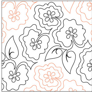 Meadow Poppies Pantograph