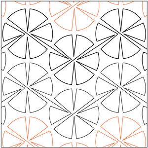 Pinwheel #1 - 60 Degrees Pantograph