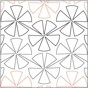 Pinwheel #4 - 72 Degrees Pantograph