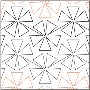 Pinwheel #5 - 72 Degrees Pantograph
