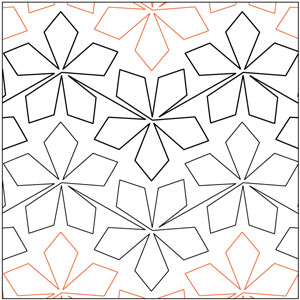 Pinwheel #6 - 72 Degrees Pantograph