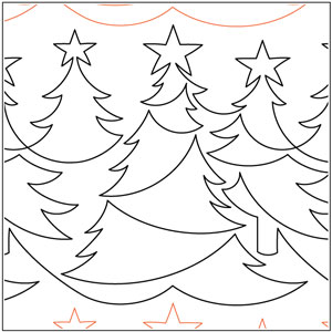 Christmas Forest Pantograph