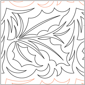 Holly Leaves Pantograph