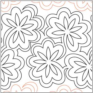Jessica's Star Flowers Pantograph