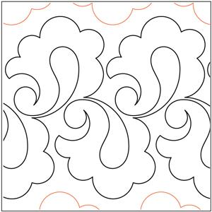 Paisley Curls Pantograph