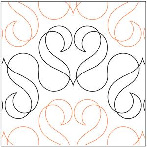 Ribbon Hearts #1 Pantograph