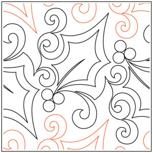 Holly and Swirl Pantograph